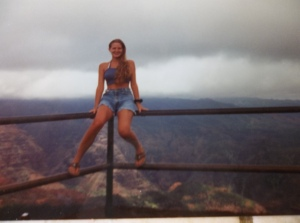 A quick shout out to me, 15 years ago....awe, those were the days, sitting on the edge of Waimea Canyon.