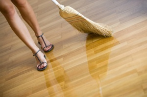 Yes, just like any good Feminist, I clean my floors in stilettos.